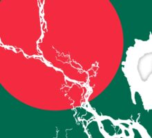 Flag Map of Bangladesh  Sticker