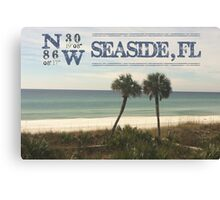 Seaside, FL latitude and longitude Canvas Print