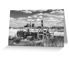The Old Lumber Mill BW Greeting Card