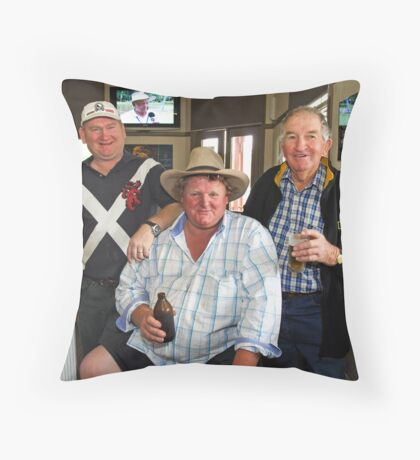 Bobby O'Brien, Nobby McMahon & Kevin Slater Throw Pillow