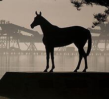 Makybe Diva Statue on Pt Lincoln by Aarron Morris