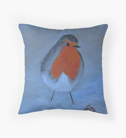 Red Breast Throw Pillow