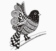 Zentangle Bird Baby Tee