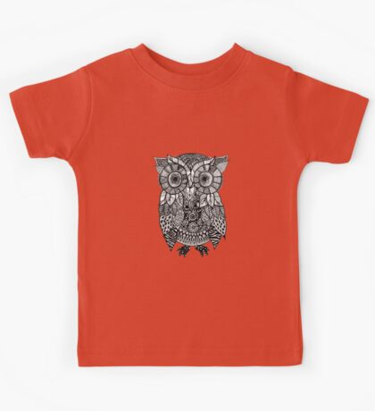 Zentangle Owl Kids Tee