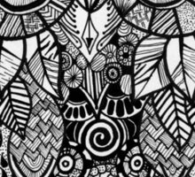 Zentangle Owl Sticker