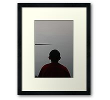 meditation. morning, tso pema, india Framed Print