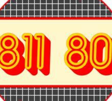 01 811 8055 Sticker