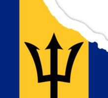 Barbados Flag Map  Sticker
