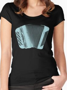 Accordion blue Women's Fitted Scoop T-Shirt