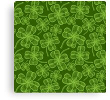 Clover pattern Canvas Print