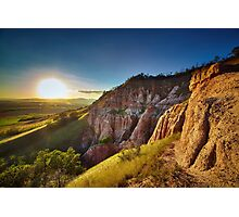 Sunset in the mountains, Red Ravine Photographic Print