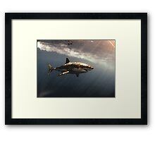 Great White Watercolours Framed Print