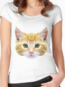 Crystalline Cat Women's Fitted Scoop T-Shirt