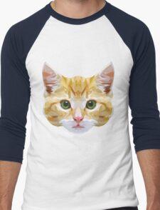 Crystalline Cat Men's Baseball ¾ T-Shirt