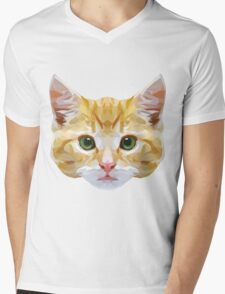 Crystalline Cat Mens V-Neck T-Shirt