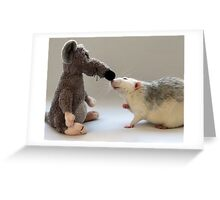Me and my new friend. Greeting Card