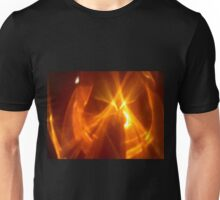Dark Amber Flame Reflections Unisex T-Shirt