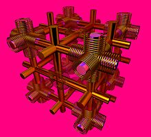 Cubenoid spring by digitalillusion