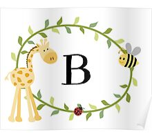 Nursery Letters B Poster