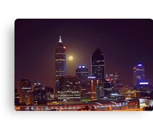 Moonrise Over Perth City  Canvas Print