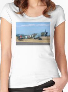 Supermarine Spitfire FR.XIVe MV293 G-SPIT Women's Fitted Scoop T-Shirt