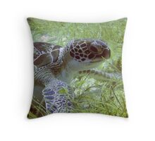 Green Turtle Throw Pillow