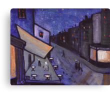 Night cafe Canvas Print