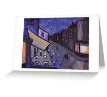 Night cafe Greeting Card