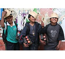 Young Entrepreneurs in Quito Photographic Print