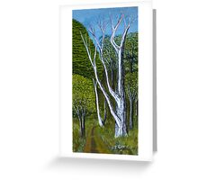 Dead Trees in the Fauna Park, Doran Road, Bunyip  Victoria Greeting Card