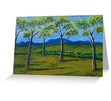Blue Hills Landscape Greeting Card