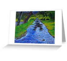 Stream in the garden of Blarney Castle, County Cork, Irish Republic Greeting Card