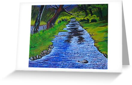 Stream in the garden of Blarney Castle, County Cork, Irish Republic by Samuel Ruth