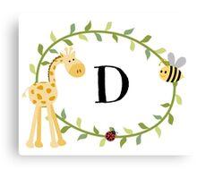 Nursery Letters D Canvas Print