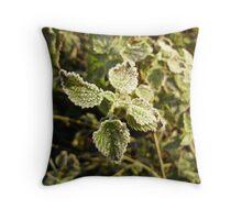 frosty nettle Throw Pillow