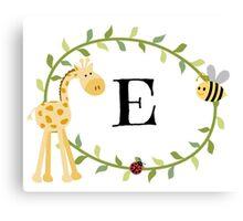 Nursery Letters E Canvas Print
