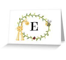 Nursery Letters E Greeting Card