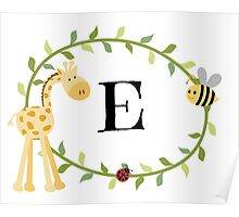 Nursery Letters E Poster