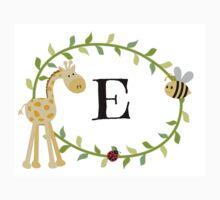 Nursery Letters E One Piece - Short Sleeve