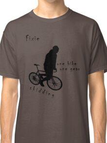 Fixie - one bike one gear - skidding (black) Classic T-Shirt