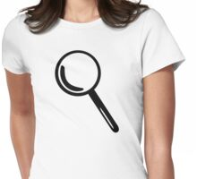 Magnifying glass Womens Fitted T-Shirt