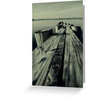 Crooked Pier Greeting Card