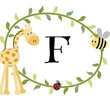 Nursery Letters F by mezzilicious