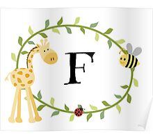 Nursery Letters F Poster