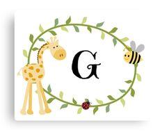 Nursery Letters G Canvas Print