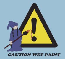 Caution Wet Paint by eleni dreamel