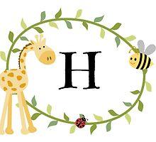 Nursery Letters H by mezzilicious