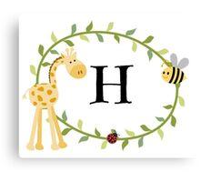 Nursery Letters H Canvas Print