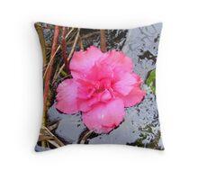 Pink Azalea Throw Pillow