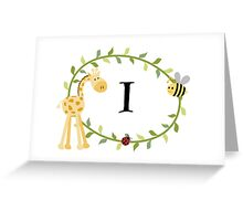Nursery Letters I  Greeting Card